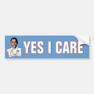 Obamacare Yes I Care Car Bumper Sticker