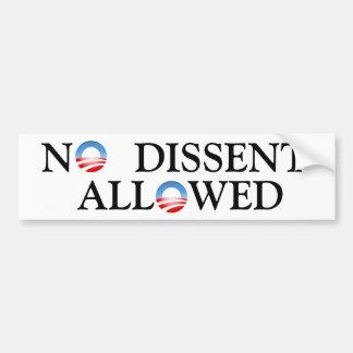 ObamaLogo, ObamaLogo, N, DISSENT,  ALL   WED Bumper Sticker