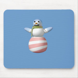 OBAMANABLE SNOWMAN MOUSE PAD
