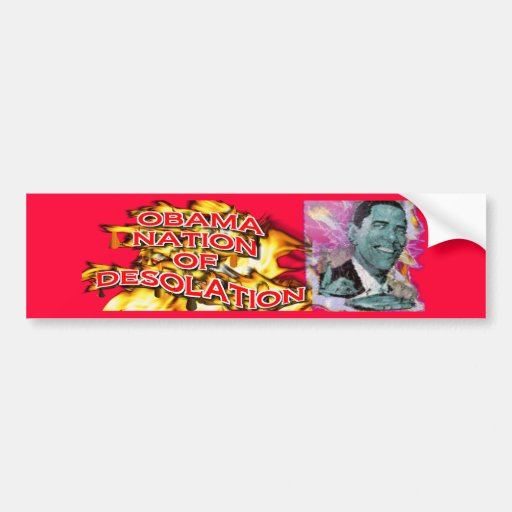 ObamaNation ABOMINATION DESOLATION Bumper Stickers