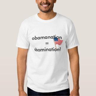 Obamanation abomination tshirt