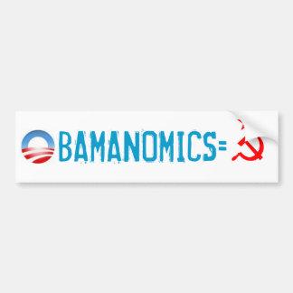 OBAMANOMICS=SOCIALISM BUMPER STICKER