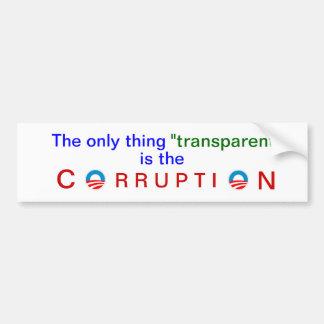 Obama's corrupt transparency bumper sticker