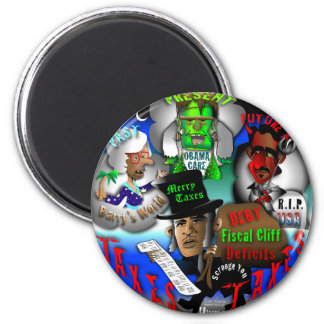 Obama's Ghosts of Christmas Refrigerator Magnets