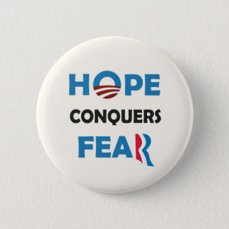 Obama's HOPE conquers Romney's FEAR 6 Cm Round Badge