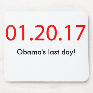 Obama's last day mouse pad