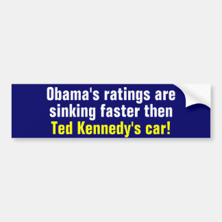 Obama's ratings bumper stickers