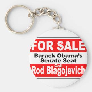 Obama's Senate Seat for Sale Basic Round Button Key Ring