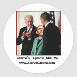 Obama's Supreme Mini Me Round Sticker