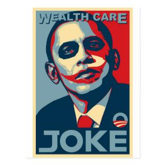 Obama's Wealth Care Joke 2009 Postcard