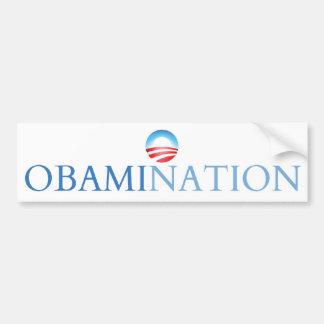 Obamination White (Obamanation) Bumper Sticker