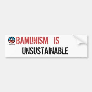 Obamunism is Unsustainable Bumper Sticker