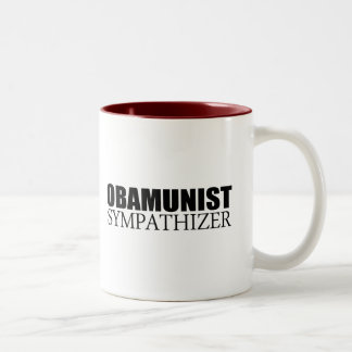 Obamunist sympathizer Two-Tone mug