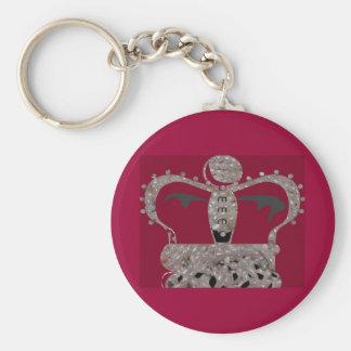 obatala crown basic round button key ring