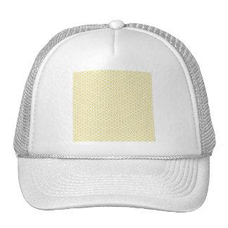 OBB YELLOW WHITE BLUE DOTS DECORATIVE BACKGROUND P TRUCKER HAT