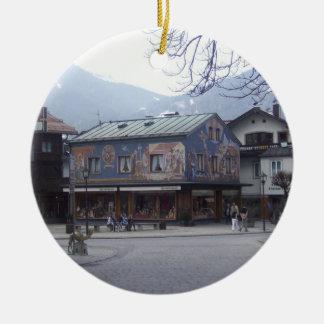 Oberammergau Austria Ceramic Ornament