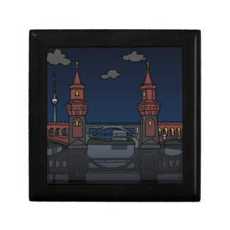 Oberbaum Bridge Berlin at night Gift Box