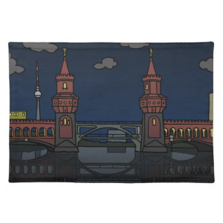 Oberbaum Bridge Berlin at night Placemat