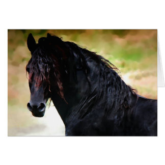"""Oberon"" Friesian Greeting Card"