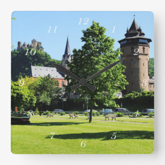 Oberwesel on the Rhine Square Wall Clock