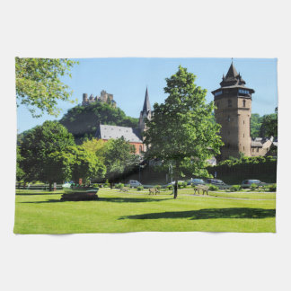 Oberwesel on the Rhine Tea Towel