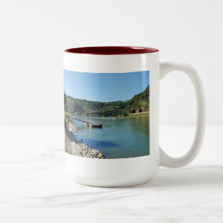 Oberwesel on the Rhine Two-Tone Coffee Mug