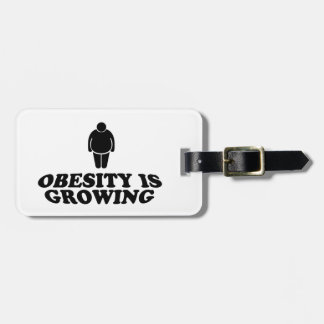 Obesity is Growing Luggage Tag