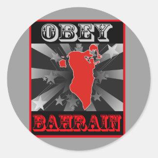 Obey Bahrain Classic Round Sticker