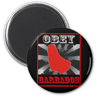 Obey Barbados 6 Cm Round Magnet