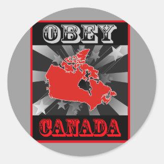 Obey Canada Classic Round Sticker