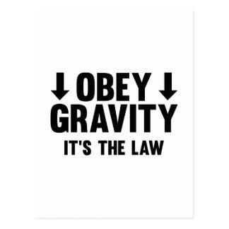 Obey Gravity. It's The Law. Postcard