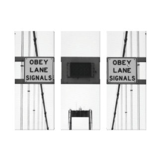 Obey Lane Signals Triptych Canvas Print