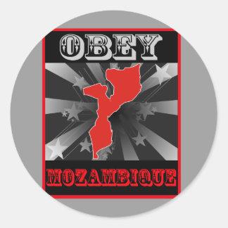 Obey Mozambique Classic Round Sticker