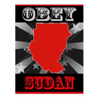 Obey Sudan Postcard