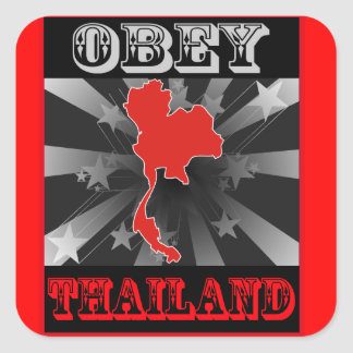 Obey Thailand Square Stickers