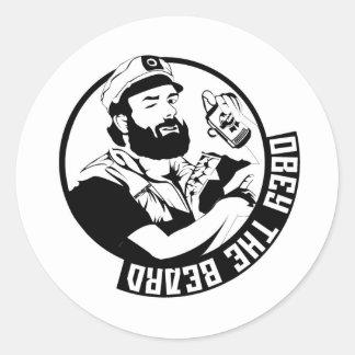 Obey the Beard Round Sticker