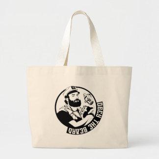 Obey the Beard Jumbo Tote Bag