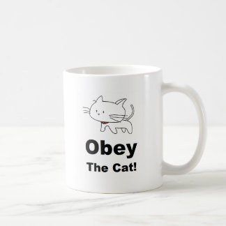 Obey the cat coffee mugs