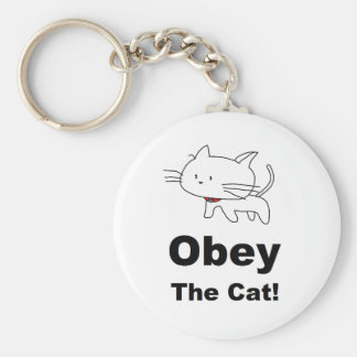 Obey the cat key chains