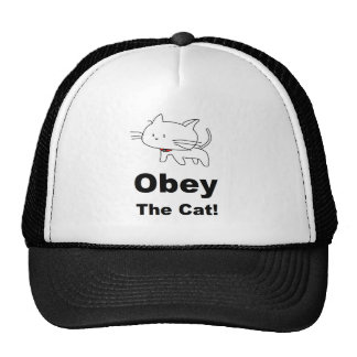 Obey the cat mesh hat