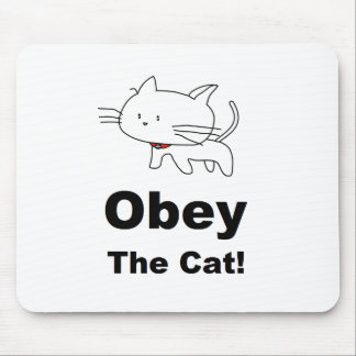 Obey the cat mousepads
