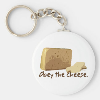 Obey the Cheese Key Ring
