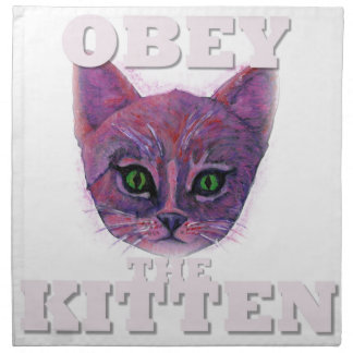 Obey the Kitten Napkin