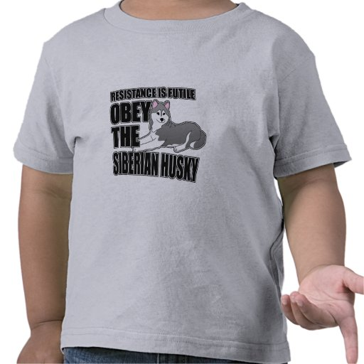 Obey The Siberian Husky T-shirts