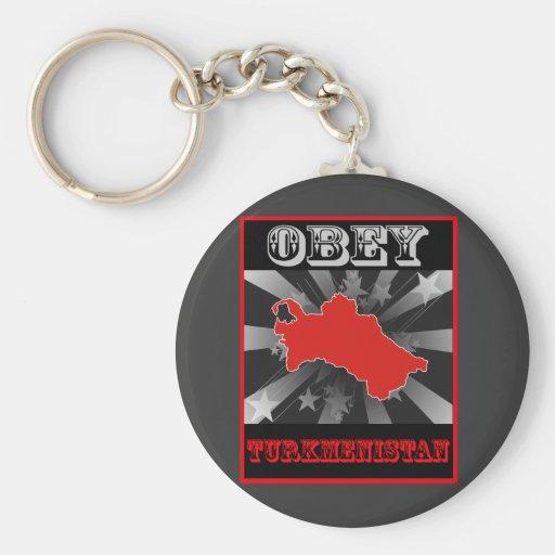 Obey Turkmenistan Key Chains
