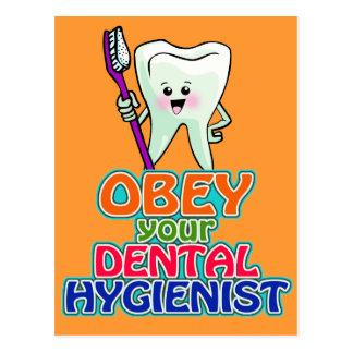 Obey Your Dental Hygienist Postcard