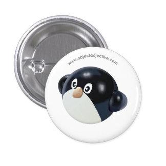 Object Adjective Penguin 3 Cm Round Badge