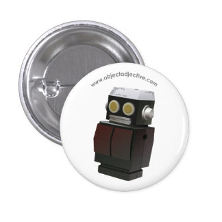 Object Adjective Robot 3 Cm Round Badge