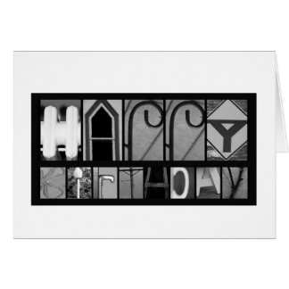 Object Letters Birthday Card