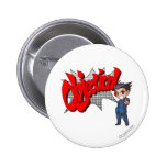 Objection! Phoenix Wright Chibi Badge